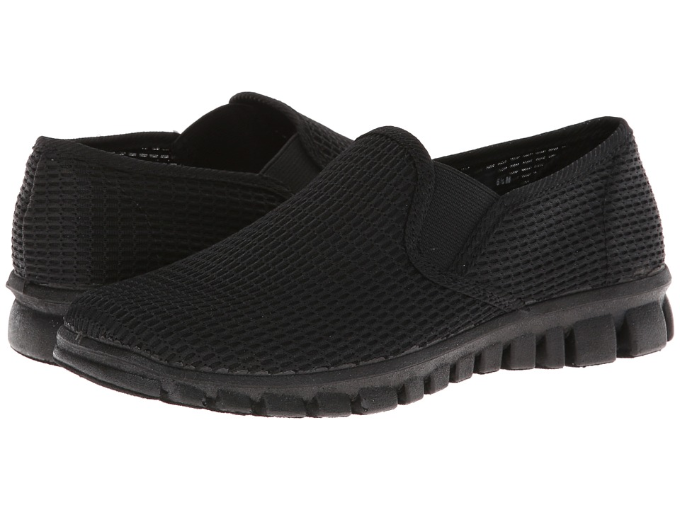 Deer Stags Dynasty Womens Slip on Shoes (Black)