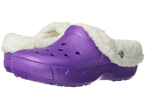 Crocs - Mammoth Core Full Collar (Amethyst/Oatmeal) Clog Shoes