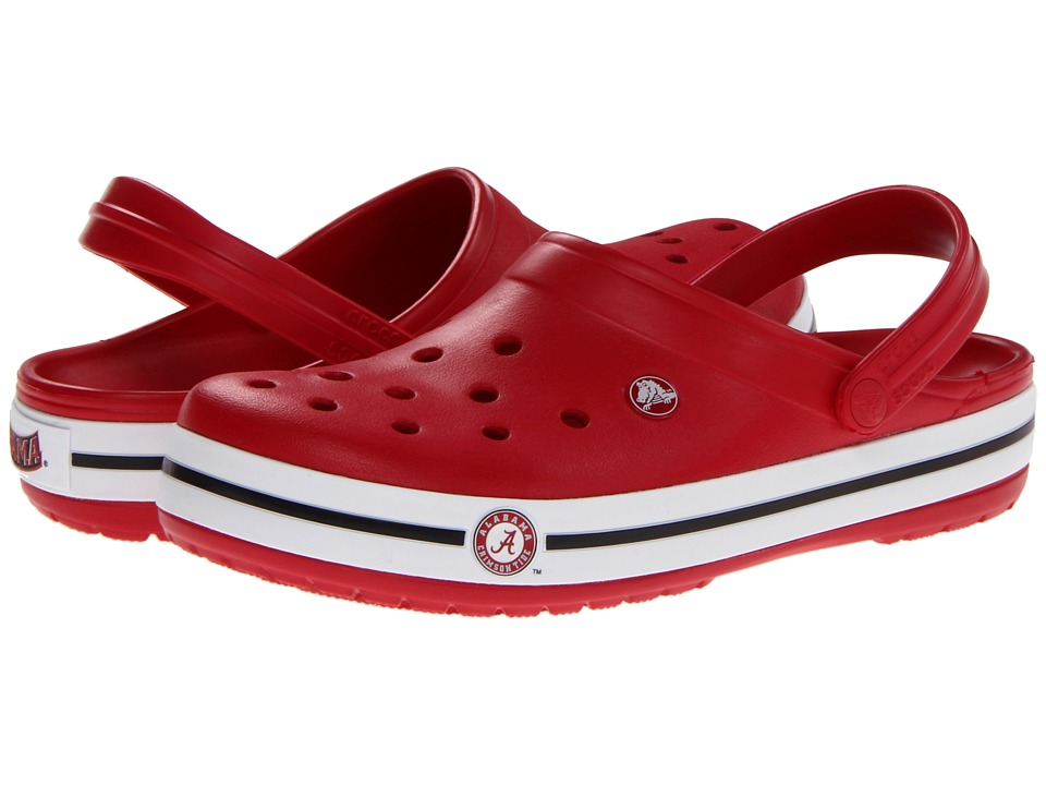 Crocs - Crocband Collegiate Clogs (University Of Alabama (Cranberry)) Clog Shoes