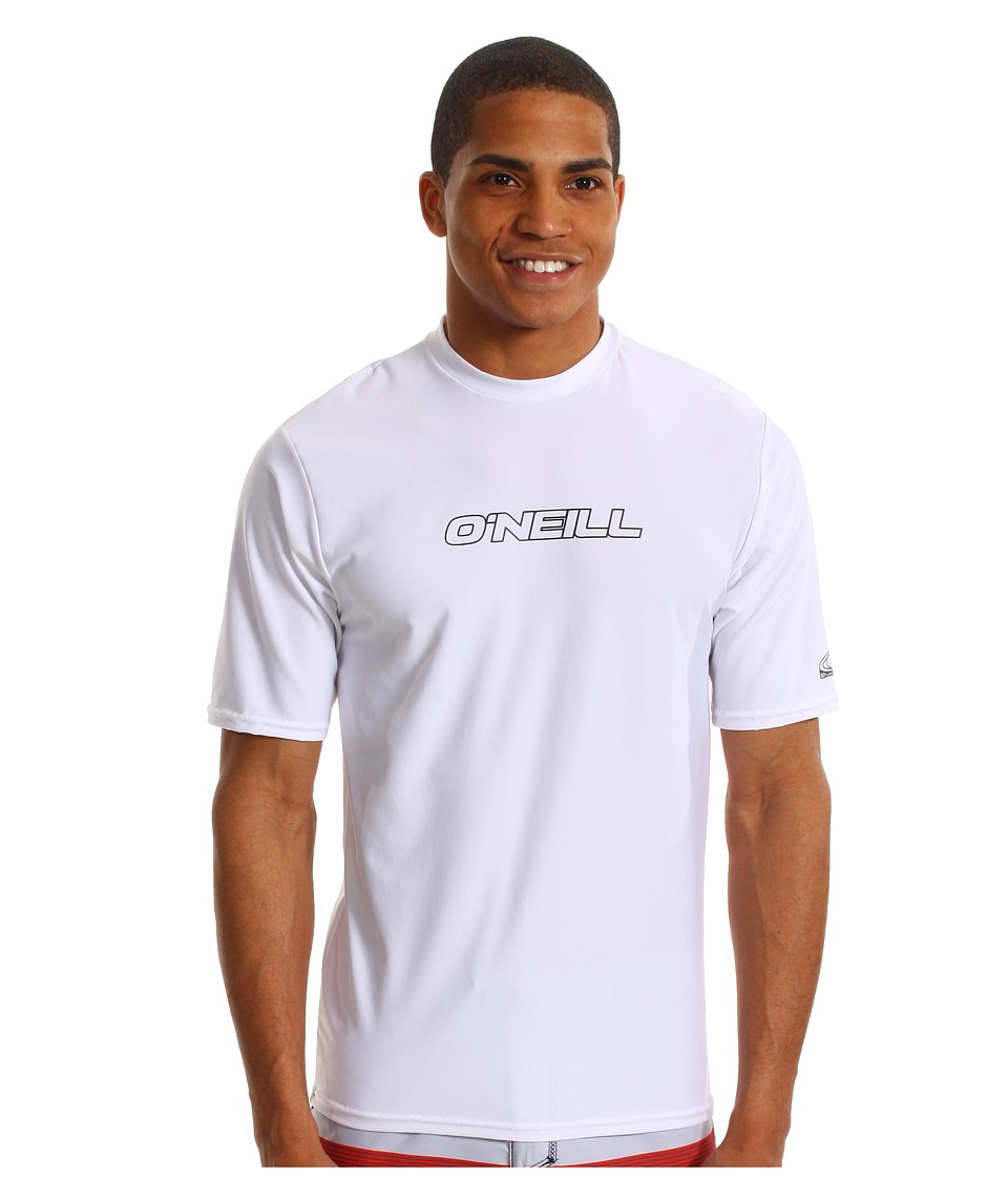 O'Neill - Basic Skins Rash Tee (White) Men's Swimwear
