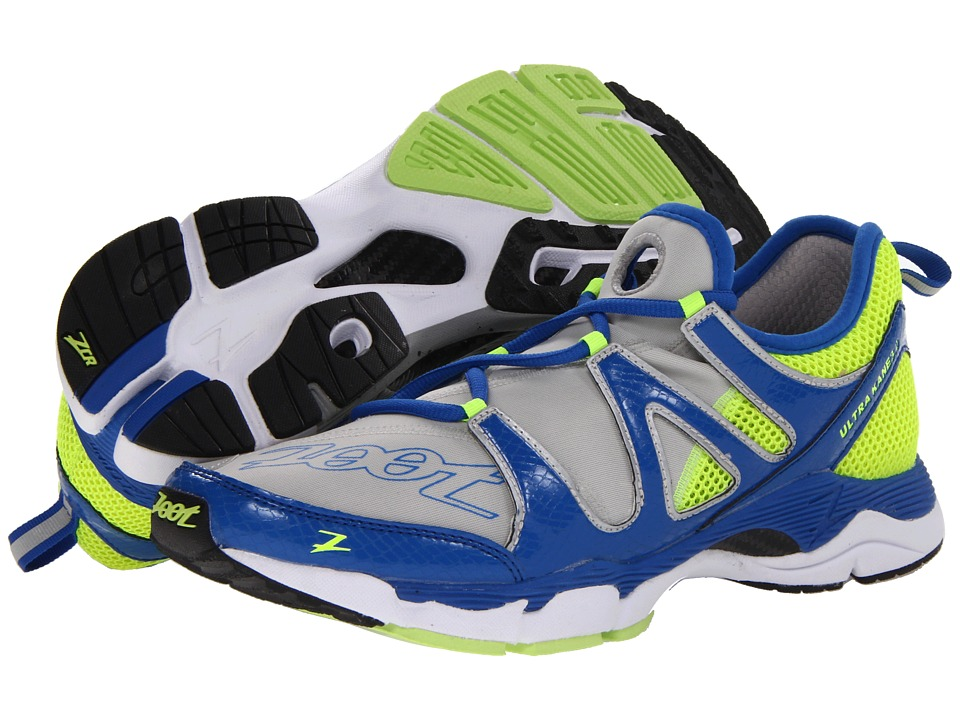 Zoot Sports - Ultra Kane 3.0 (Grey/Zoot Bluse/Safety Yellow) Men's Running Shoes