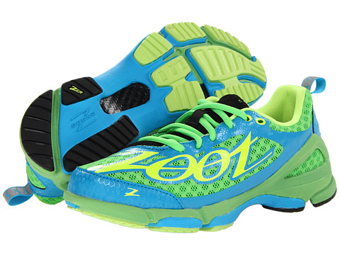 Zoot Sports - TT Trainer 2.0 (Green Flash/Atomic Blue/Safety Yellow) Women's Running Shoes