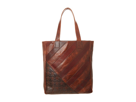 Frye Flag Tote (Dark Brown) Handbags