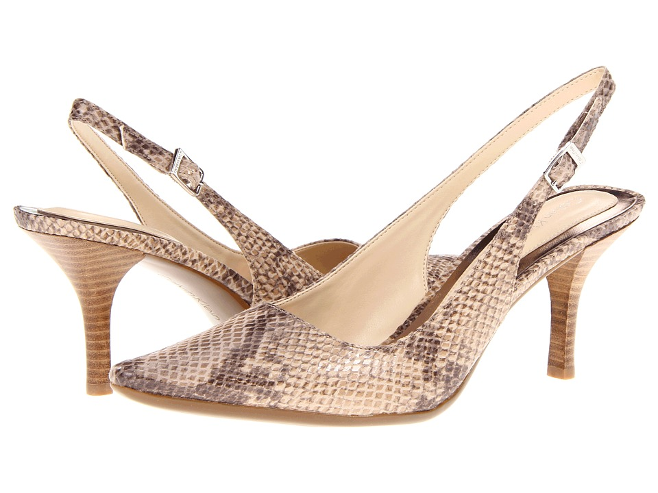 Calvin Klein - Day Classic Python (Light Taupe) Women's Sling Back Shoes
