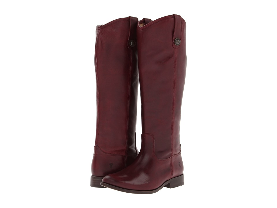 Frye - Melissa Button Boot Extended (Bordeaux Extended Soft Vintage Leather) Cowboy Boots