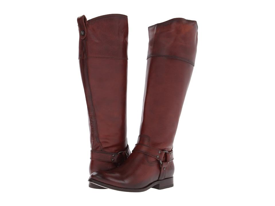 Frye Melissa Harness Inside Zip Extended Redwood Extended Soft Vintage Leather Cowboy Boots