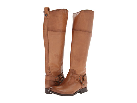 Frye - Melissa Harness Inside Zip Extended (Camel Extended Soft Vintage Leather) Cowboy Boots