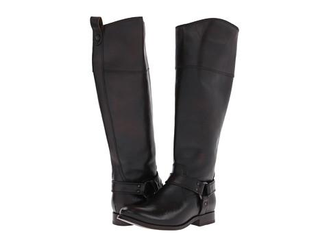 Frye - Melissa Harness Inside Zip Extended (Dark Brown Extended Vintage Brush Off) Cowboy Boots
