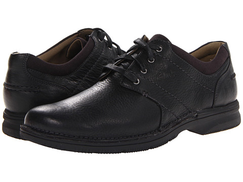 Clarks - Senner Place (Black Tumbled Leather) Men