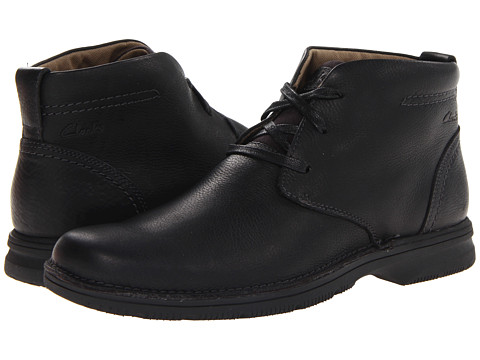Clarks - Senner Ave (Black Tumbled Leather) Men