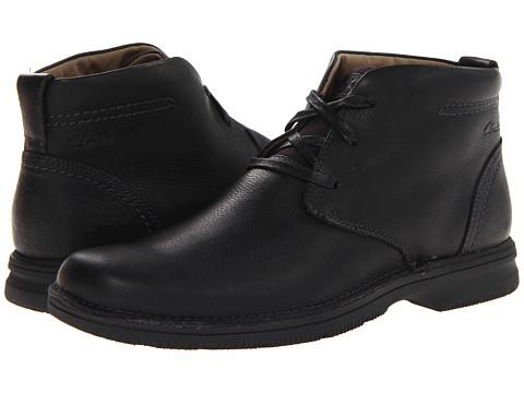 Clarks - Senner Ave (Black Tumbled Leather) Men