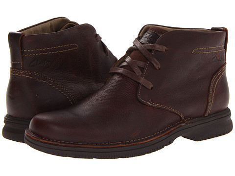 Clarks - Senner Ave (Brown Tumbled Leather) Men's Lace-up Boots