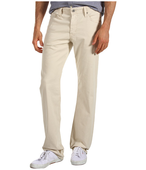 AG Adriano Goldschmied - Prot g Straight Leg Sueded Stretch Sateen (Bone) Men's Casual Pants