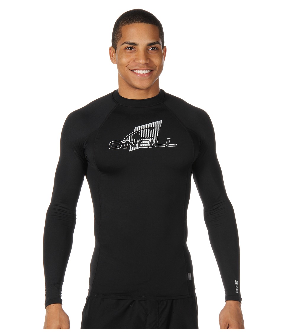 O'Neill - Skins L/S Crew (Black/Black/Black) Men's Swimwear