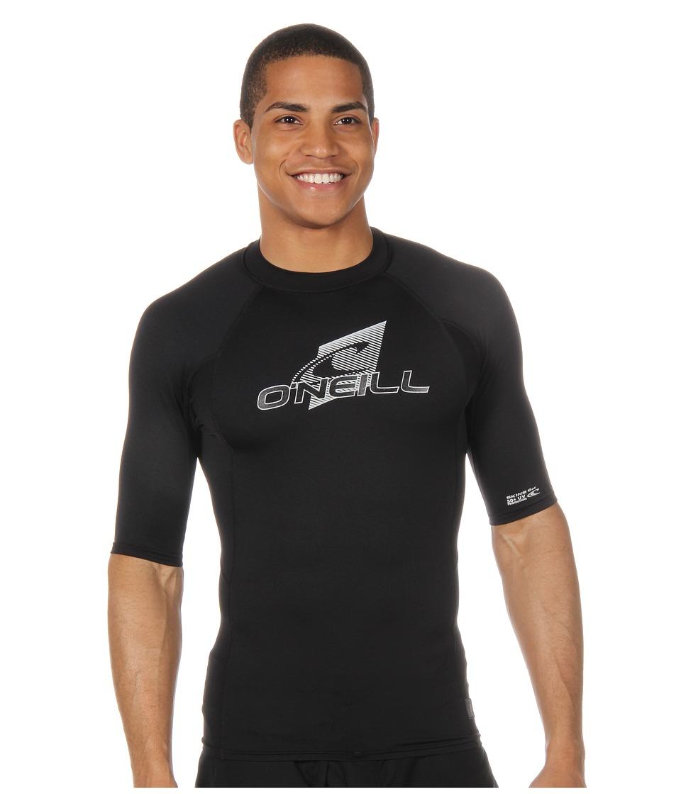 O'Neill - Skins S/S Crew (Black/Black/Black) Men's Swimwear