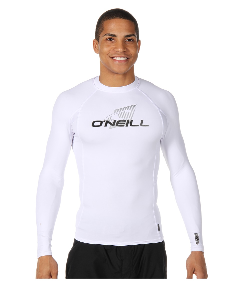 O'Neill - Skins L/S Crew (White/White/White) Men's Swimwear