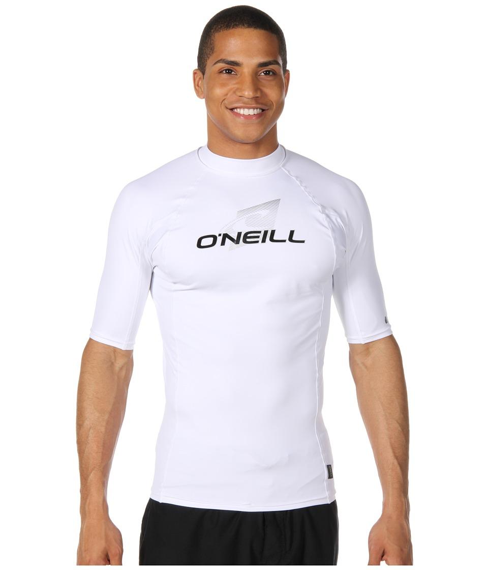 O'Neill - Skins S/S Crew (White/White/White) Men's Swimwear