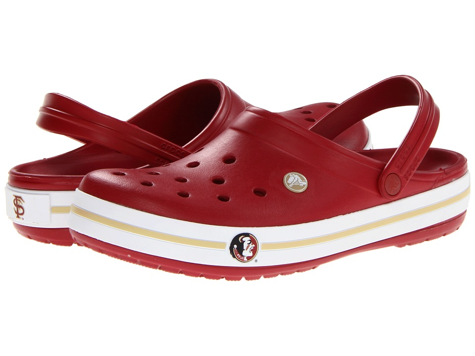 Crocs - Crocband Collegiate Clogs (Florida State University - Mens (True Red)) Clog Shoes