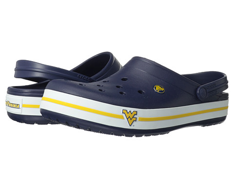 Crocs - Crocband Collegiate Clogs (University of West Virginia (Navy)) Clog Shoes
