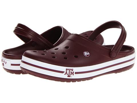 Crocs - Crocband Collegiate Clogs (Texas A&M University (Burgundy)) Clog Shoes