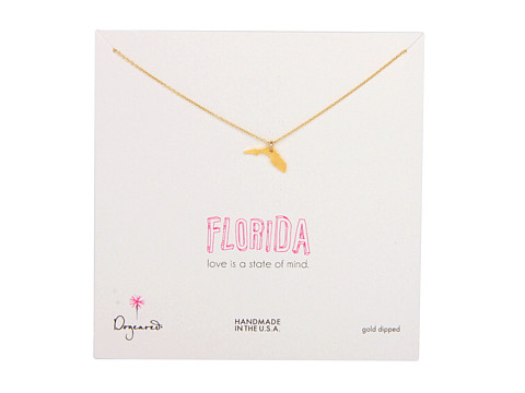 Dogeared - State Of Mind Florida Necklace 18 (Gold) Necklace
