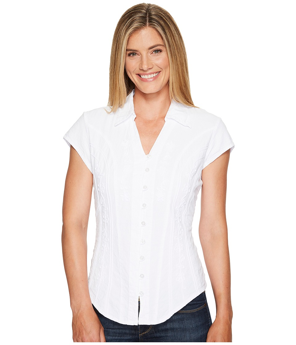 Scully - Cantina Celia Cap Sleeve Top (White) Women's Blouse