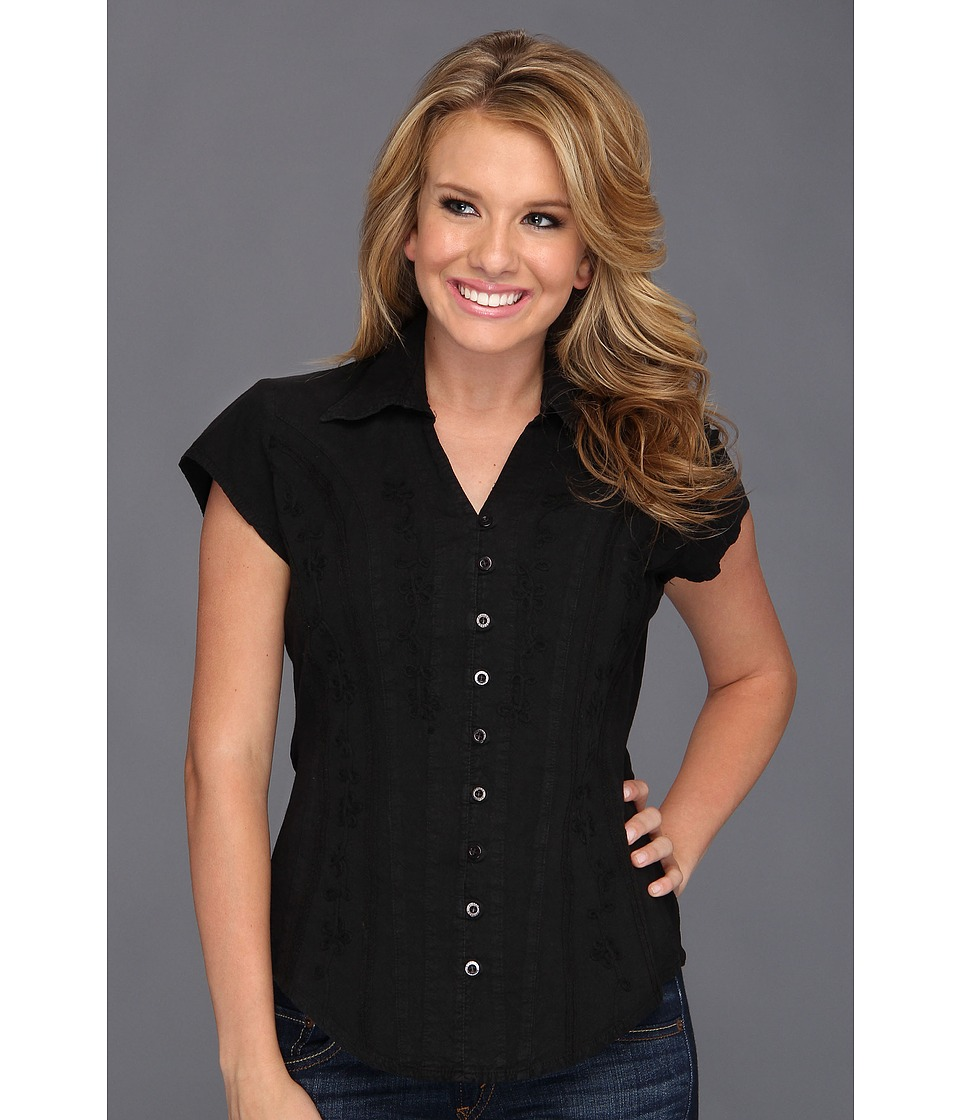 Scully - Cantina Celia Cap Sleeve Top (Black) Women's Blouse