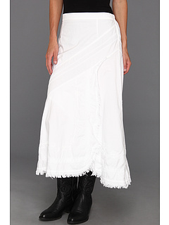 SALE! $21.99 - Save $48 on Scully Cantina Funky Frayed Edge Skirt (White) Apparel - 68.59% OFF $70.00