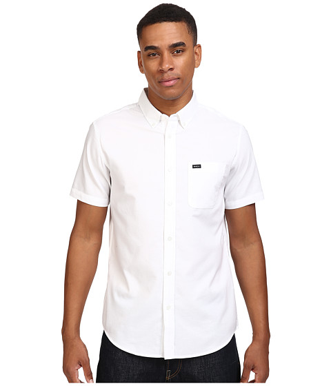 RVCA - That'll Do Oxford S/S (White) Men's Short Sleeve Button Up