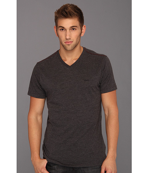 RVCA - VTC 2 V Neck Tee (Black) Men