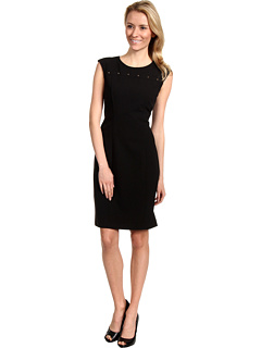 SALE! $59.99 - Save $68 on Calvin Klein Stud Detail Sheath Dress (Black) Apparel - 53.13% OFF $128.00