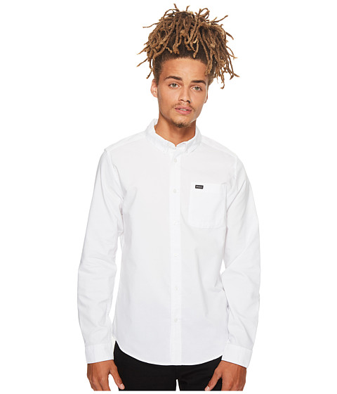 RVCA - That'll Do Oxford L/S (White) Men's Long Sleeve Button Up