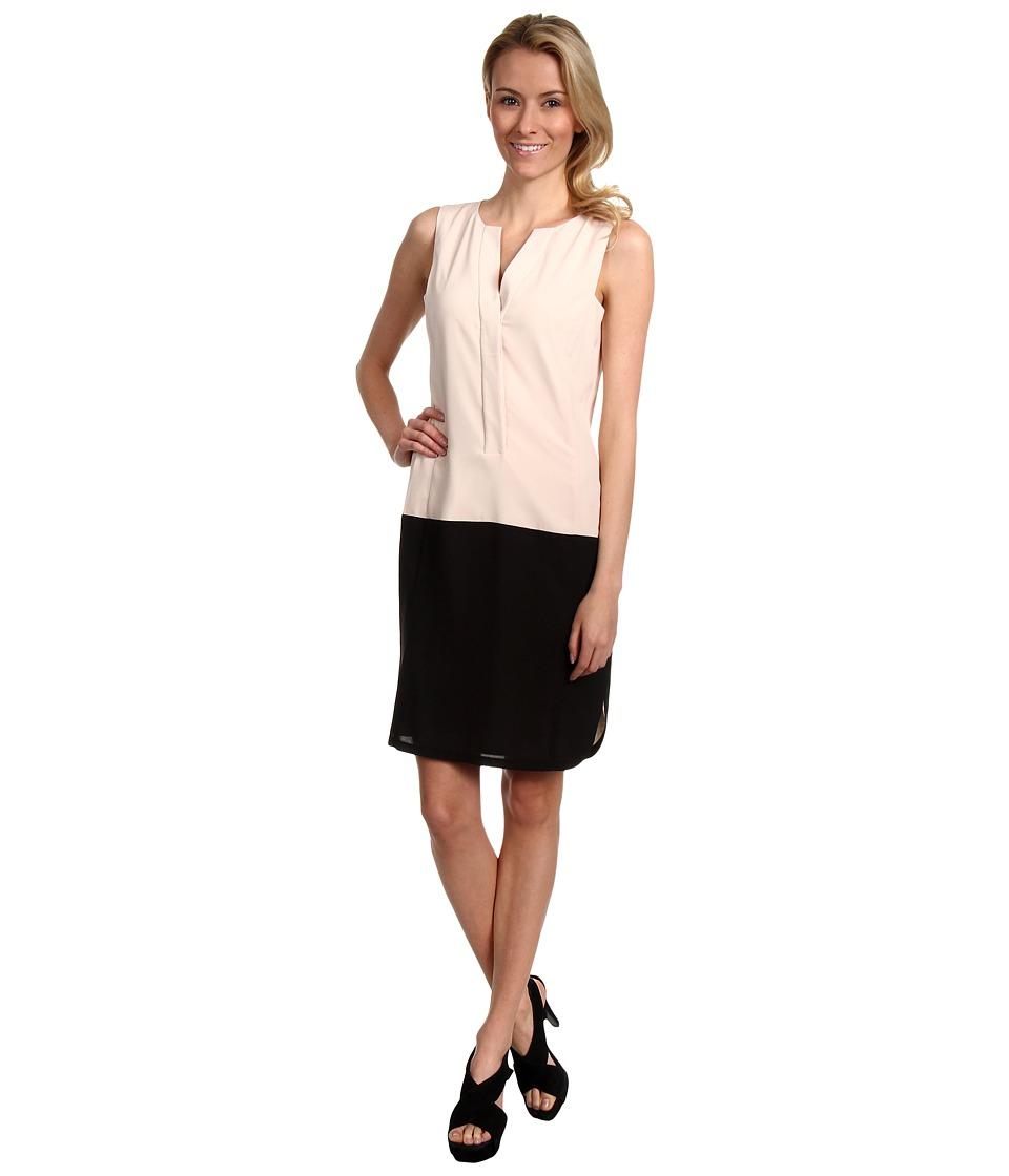 Vince Camuto - Sleeveless Tunic w/Shirttail Hem Dress (Ivory/Black) Women's Dress