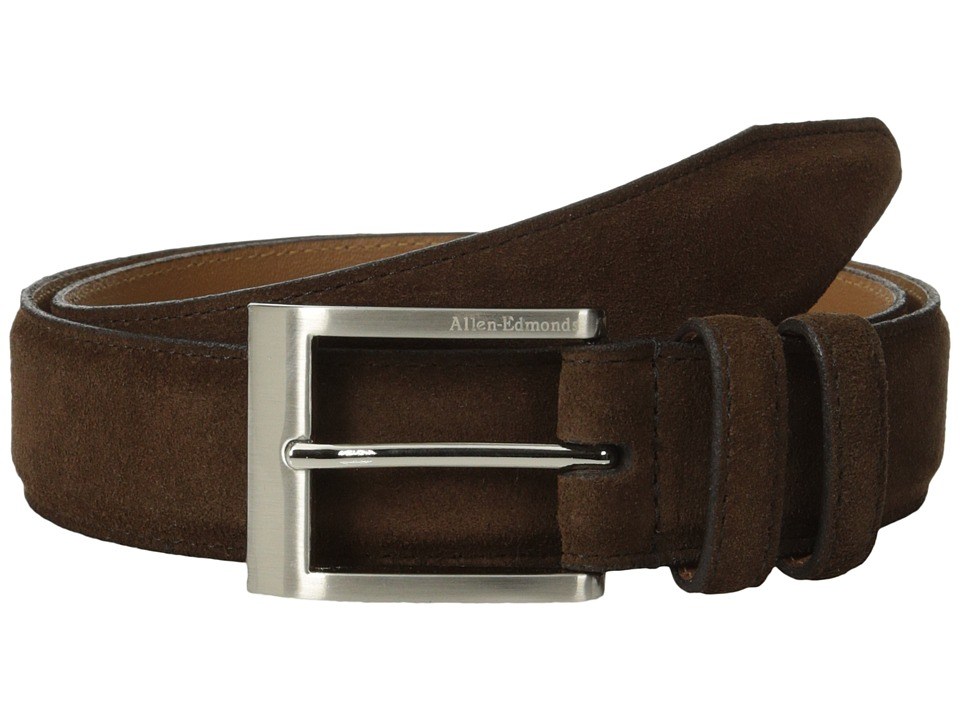 Allen-Edmonds - Wide Basic Dress (Brogue Suede) Men's Belts