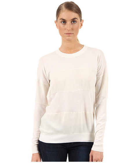 Theory - Tollie SW Top (Ivory) Women's Sweater