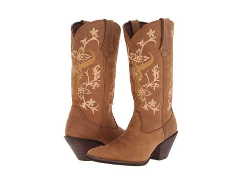 Durango - Crush 11.5 Flowers Bullhead (Matte Camel) Cowboy Boots