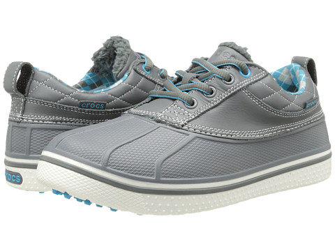 Crocs - AllCast Duck Golf Shoe (Charcoal/Electric Blue) Women