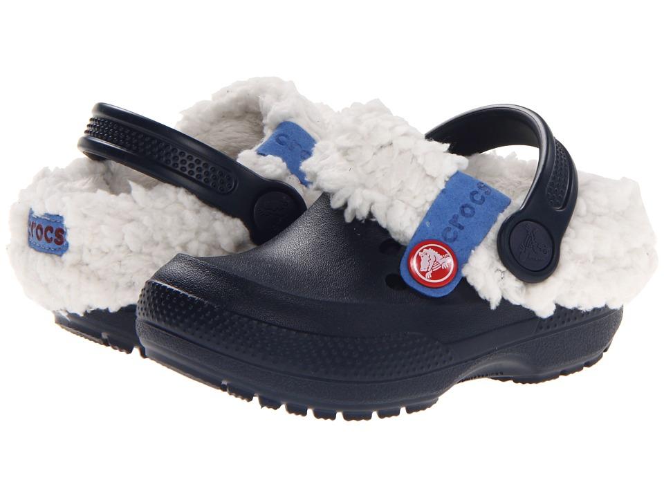 Crocs Kids - Blitzen II Clog (Toddler/Little Kid) (Navy/Oatmeal) Kids Shoes