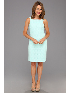 SALE! $61.99 - Save $74 on Muse Square Neck Eyelet Sheath (Light Turquoise) Apparel - 54.42% OFF $136.00