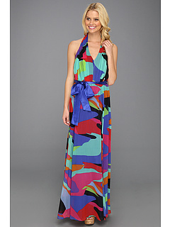 SALE! $71.99 - Save $104 on Muse Printed Maxi w Front (Royal Multi) Apparel - 59.10% OFF $176.00