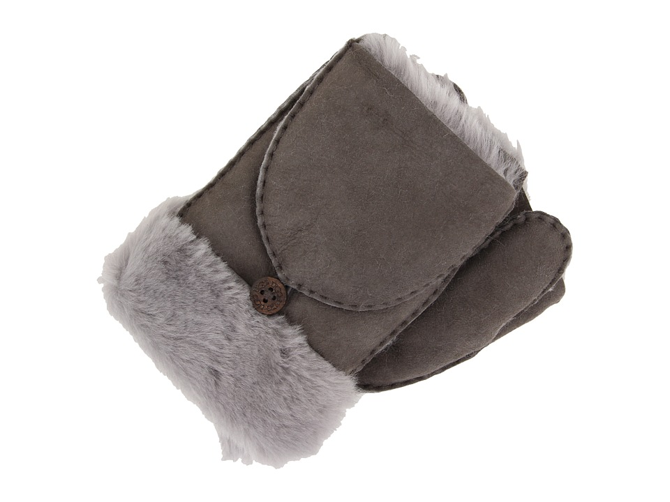 UGG - Shearling Flip Mitten (Grey) Wool Gloves