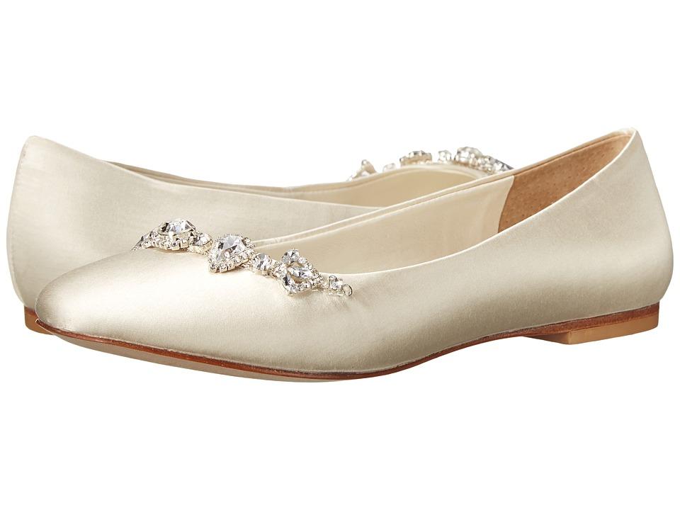 David Tutera - Blossom (Ivory Satin) Women's Flat Shoes