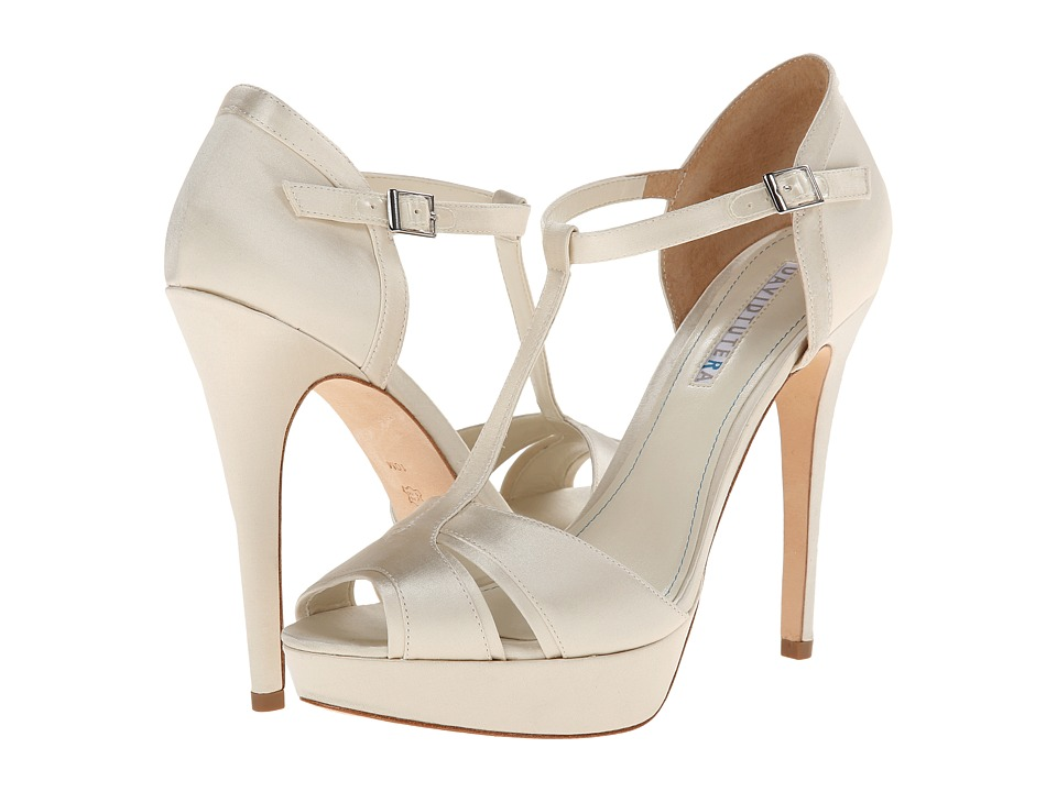 David Tutera Joy (Ivory Satin) High Heels