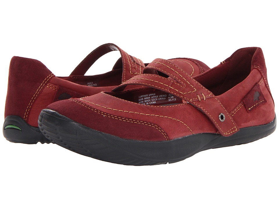 Earth - Peace (Deep Red Wax Tumbled Nubuck) Women's Sandals