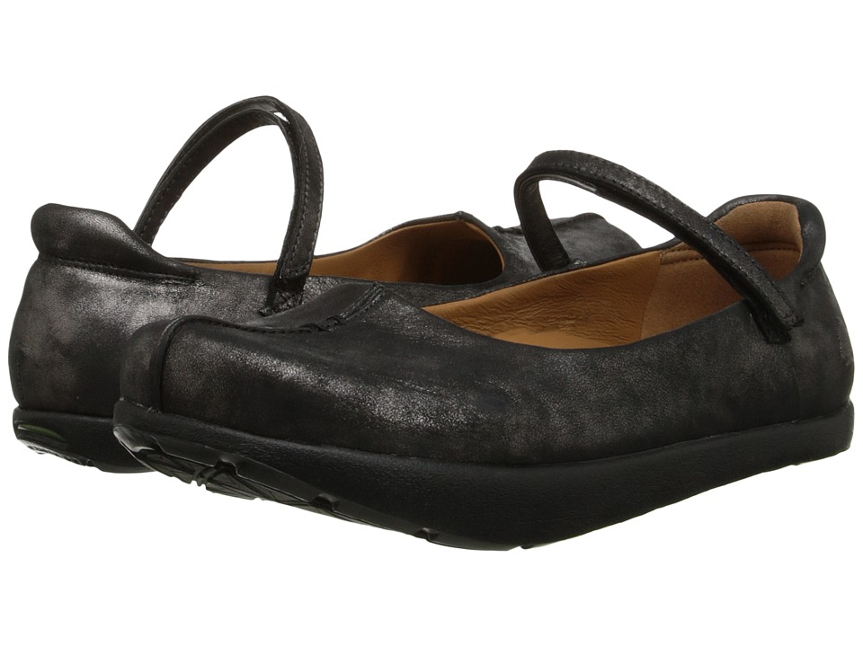 Earth - Solar Kalso (Pewter Distressed Leather) Women's Flat Shoes