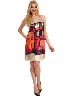 SALE! $66.99 - Save $81 on Muse Urban Printed Trapeze Dress (Pink Multi) Apparel - 54.74% OFF $148.00