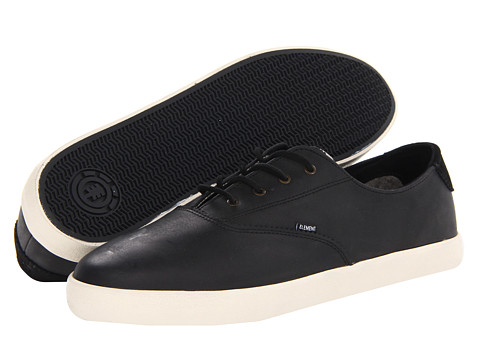 Element - Lockhart (Black Premium/Pull-Up Leather) Men's Skate Shoes