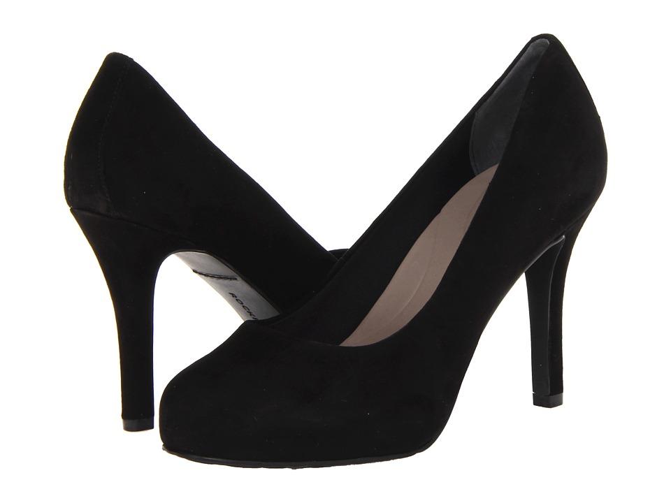 Rockport - Seven to 7 High Plain Pump (Black Suede) High Heels