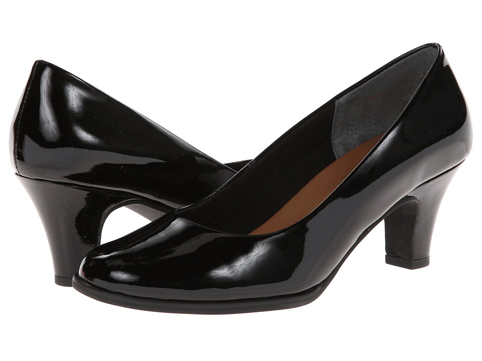 Rose Petals Cabby (Black Patent) High Heels