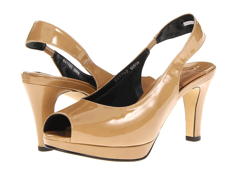 Rose Petals - Planet (Nude Patent) Women's Sling Back Shoes